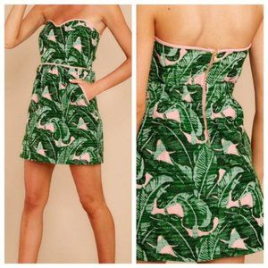 Judith March NWT Green/Pink PALM SPRINGS Dress